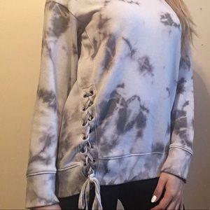 Tye Dye Lace-up Pullover